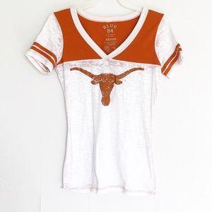 Blue 84 Tops - University of Texas T-shirt White Short Sleeve